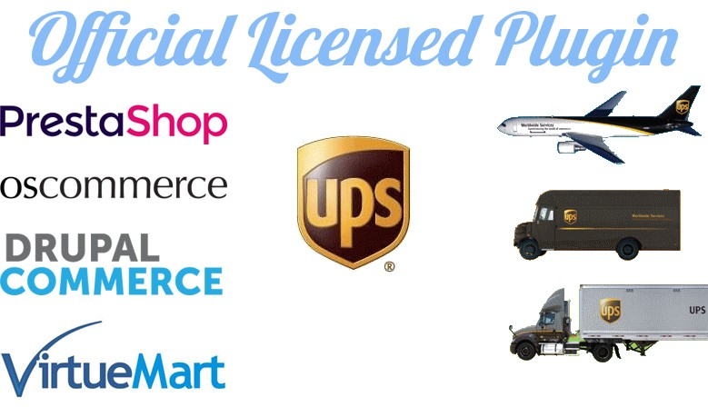 Official UPS plugins : PrestaShop, osCommerce, Drupal Commerce, VirtueMart